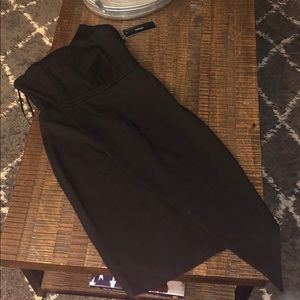 NWT Black strapless knee length dress